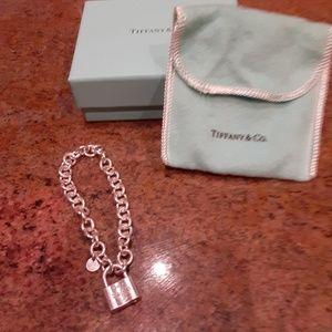 "Tiffany and Co 6.5"" padlock bracelet."